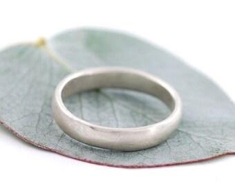 Simplicity Wedding Ring - Palladium Sterling Silver Wedding Band - 4mm - made to order wedding ring in recycled metal