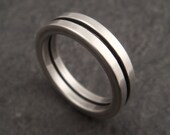 Men's Wedding Band, Wedding Ring in Sterling Silver Square Wire