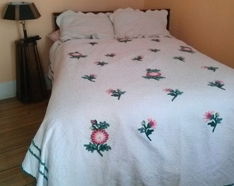 Vintage 1940s Bedspread 40s Chenille Twin Full 2015472