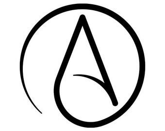 Atheist logo vinyl decal // Atheist Alliance International sticker // atheism reason science logic antitheist antitheism secular
