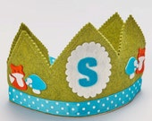 Waldorf Birthday Crown - Woodland Fox Birthday - Personalized Crown