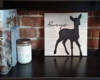"Harry Potter Silhouette Painting - ""Always"" Doe"