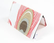 Mini Wallet / Card Holder / Business Card Holder / Card Case / Gift Card Holder/ Small Wallet - Coral Peacock Feather