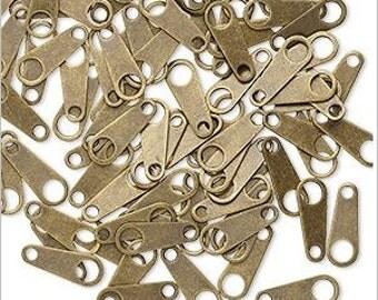 Versatile Antique Brass Clasp Tabs 10x4mm 10 pcs