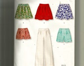 New Look Misses' Skirt, Pants or Shorts Pattern 6873