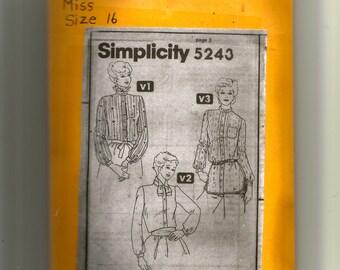 Simplicity  Misses' Blouse Pattern 5243