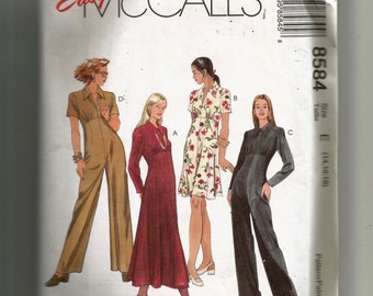 McCall's Misses' Dress In Two Lengths and Jumpsuit Pattern 8584