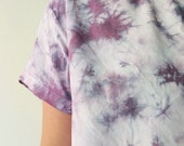 Hand Dyed Scoop Neck Blouse in Amethyst ,Lavender, Gray, Anna Joyce, Portland, OR