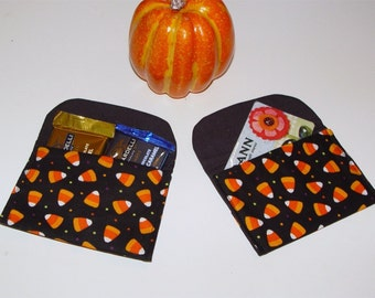 Halloween Party Favors Gift Card Holder Candy Corn Orange & Black