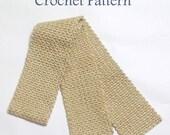 Crochet Scarf Pattern, Instant Download, Pdf Crochet Pattern, Woven Scarf, Warm Accessories, Crochet Pattern,  Easy Crochet Patte
