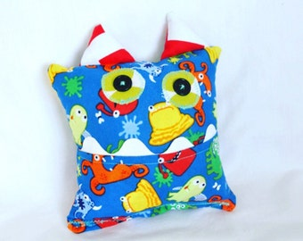 Monster Tooth Fairy Pillow - Blue Red Green Monster