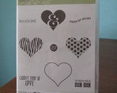 Used Like New! Groovy Love Stampin' Up! retired rubber stamp set (9)