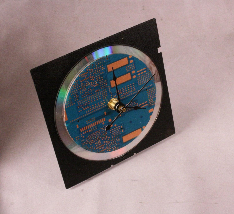 Snap Computer Circuit Board Desk Clock Dark Green By Geekgear On Etsy Blue