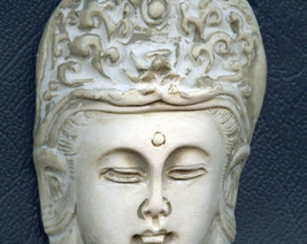 Polymer Clay Cab Lady Kwan Yin Faux Marble LDK 3