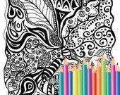 Color page - Zen style - fun square