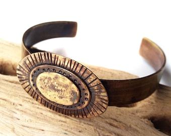 Brass Cuff Bracelet - Brass Metal Bracelet - Hippie Cuff Bracelet