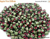 "25% OFF Summer Sale TOHO Glass Beads - 8/0 Beads - 2.5"" Tube - Silver Lined Frosted Olivine Pink Lined"