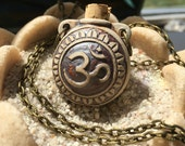 OM Pottery Oil Bottle Necklace