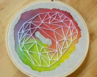 "6"" Hoop Art, Watercolor Embroidery 002"
