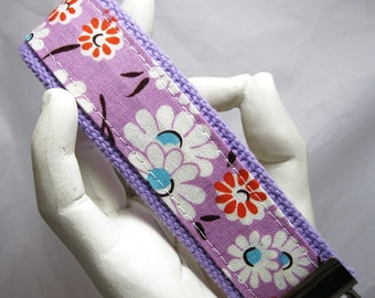 Keychain Purple Daisies Wristlet Key chain Key Fob