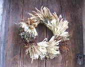 FALL SAMPLER  WREATH   for autumn wall or door decoration  standard Medium Size  #2