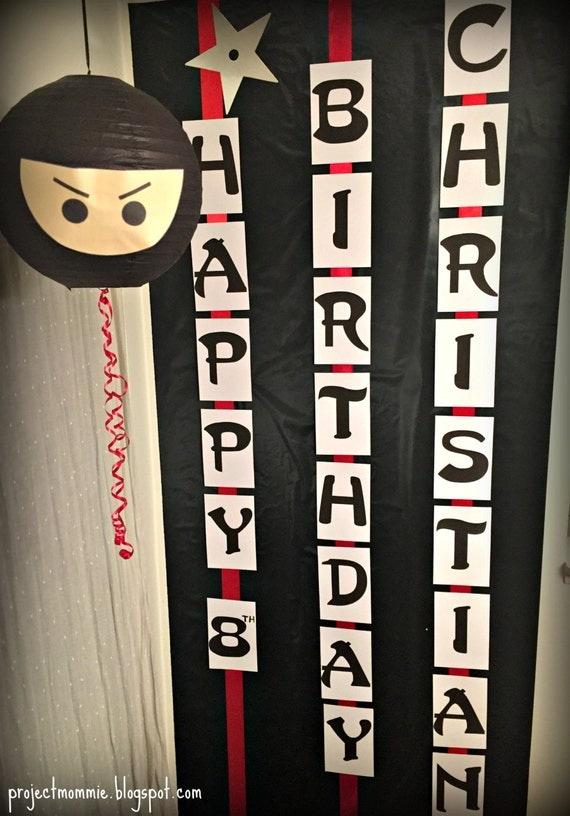 pdf  cute but fierce ninja happy birthday banner