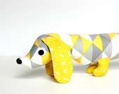 Baby Shower Gift, New Baby Gift, Wiener Dog Softie, Kids Plush Toy Dachshund, Stuffed Wiener Dog ROCKY