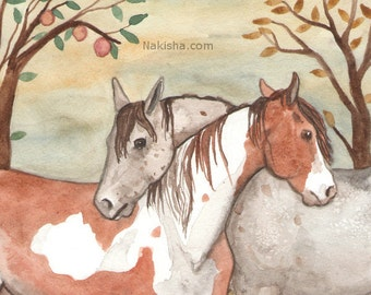 The Lovers - Fine Art Print - Horse Art from the Riderless Tarot