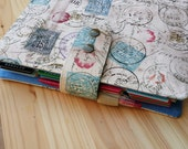 Planner cover Erin Condren Life Planner 17 pocket Fabric  planner case stamp fabric  Planner accessory
