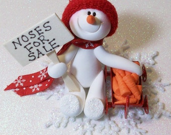 Snowman ornament with noses for sale