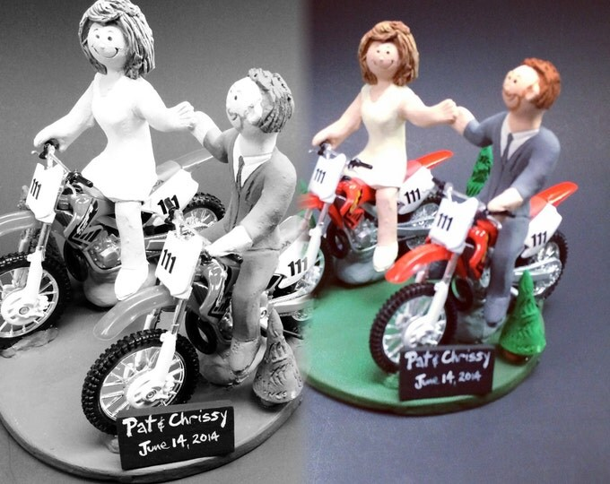 Honda Off Road Motorcycle Wedding Cake Topper, Motorcycle Wedding Anniversary Gift, Motorcycle Wedding Anniversary Gift, Honda Caketopper