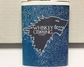 Whiskey is coming - Game of Thrones Flask by jDUCT - House Stark