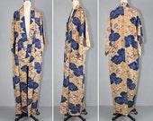 silk kimono / vintage kimono / floral / ABUNDANT SKY silk robe