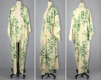 silk kimono / antique kimono / floral / LORELAI vintage kimono