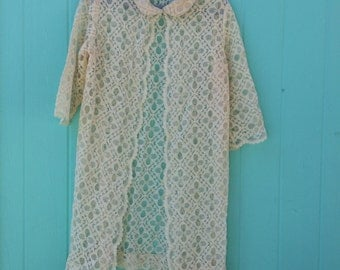 boho beauty vintage lace robe