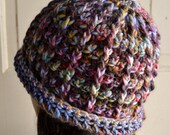 Ladies Roll Brim Hat Multicolor Wool
