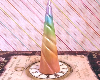 Pastel Rainbow Costume Unicorn Horn - Made to Order