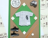 Chicago White Sox Birthday Card, Handmade Sox Birthday Card, Baseball Birthday Card, White Sox Birthday Greeting Card, 3D Birthday Card
