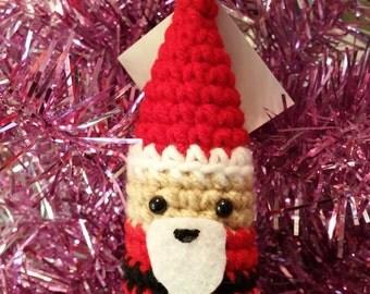 Santa Gnome Ornament