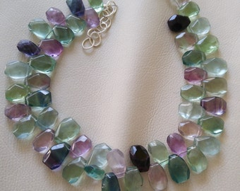 Hard Candy, Sterling Silver and Flourite Necklace