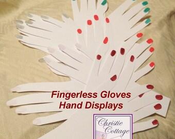 Hand Displays for Fingerless Gloves. 5 sets. For Crafts Shows