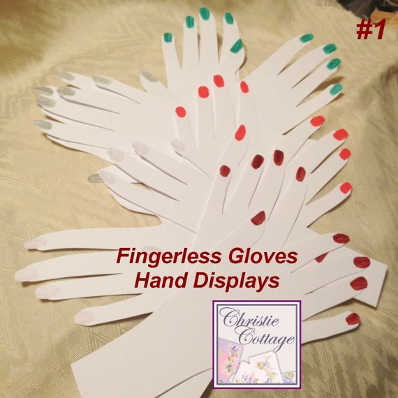 Hand Displays for Fingerless Gloves. 5 sets. For Crafts Shows