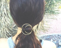 Brass Moon Hair Pin