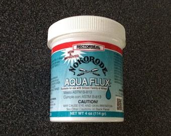 4 oz (114 gm) Nokorode AQUA FLOW Lead Free Paste FLUX pre-cleans & resists splattering. Protects Solder. Use Less with Paste Flux