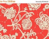 Summer Sale Amy Butler Lark Collection Souvenir Persimmon Red Floral Cotton Fabric by the yard from Shereesalchemy
