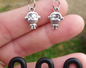 Cute little monkey earrings