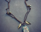 Hoot Owl Necklace on Brass Chain