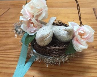 Wedding decoration love birds in nest table decor centerpiece
