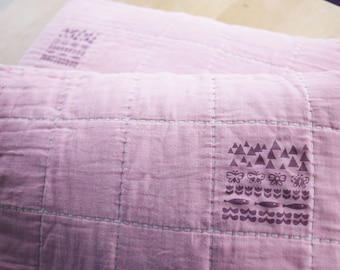 Pink Gauze pillow cases
