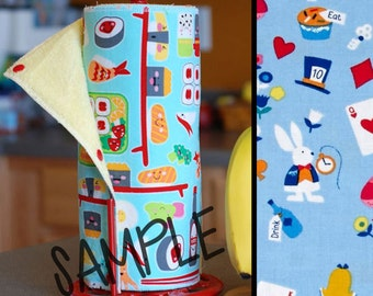 Unpaper Towels | Reusable Paper Towels  - Wonderland (0429829) Tree Saver Towel | Kitchen Towel | Snapping Cloth Paperless Towel & Wet Bag